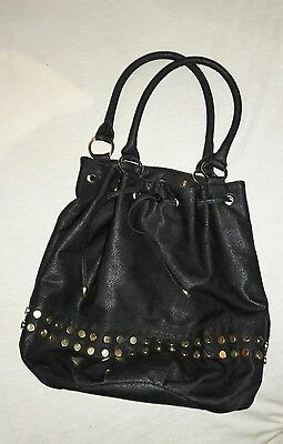Used, Daisy Fuentes black with gold Hobo Purse for sale  Barrington