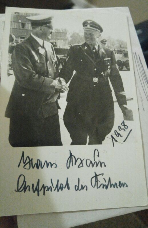 RARE WWII WW2 GERMAN SOLIDER KNIGHTS CROSS AUTOGRAPH PHOTO MILITARY 1938