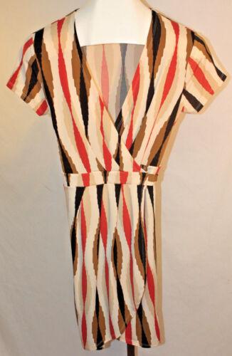 Banana Republic Womens Ladies Multi Color Short Sleeve Wrap Dress Size Small