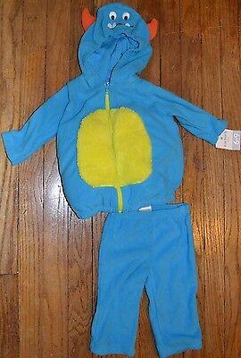Carter's Baby MONSTER Halloween Costume Soft Fleece Easy to wear 2 Piece Set