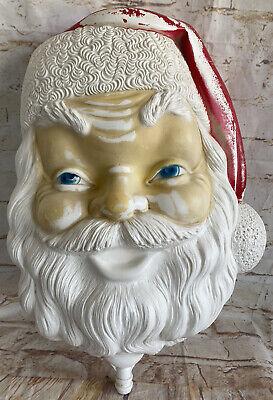 "Vintage 1968 Empire Santa Head Face Blow Mold 17"" Christmas W/HTF Bottom"