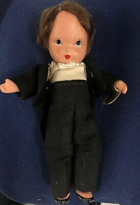 All Bisque Nancy Ann Storybook Groom Doll With Wrist Tag
