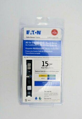 Eaton All-In-One Breaker Plug-On 15A Single-Pole CHFP115A1CS New in Package