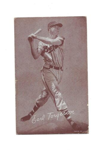 1947-66 Earl Torgeson Braves Exhibit Card VG!!