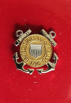 USCG US COAST GUARD REDUCED SIZE E-1 THRU E-3 ENLISTED RANKS GARRISON CAP BADGE
