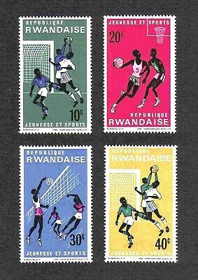 "Rwanda 1966 ""Youth and Sports"" short set of 4 values MNH"