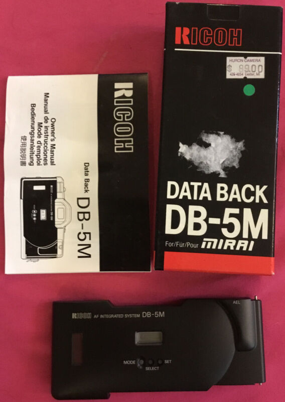 Ricoh Data Back DB-5M for Mirai Camera (NOS) AF Integrated System OWNERS MANUAL
