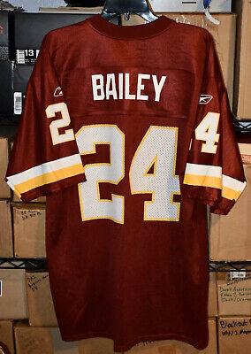 Reebok Washington Redskins Champ Bailey Burgundy Replica Jersey SZ Men's -