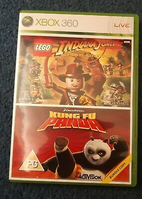 Lego Indiana Jones & Kung Fu Panda Xbox 360 Video Games With Manuals
