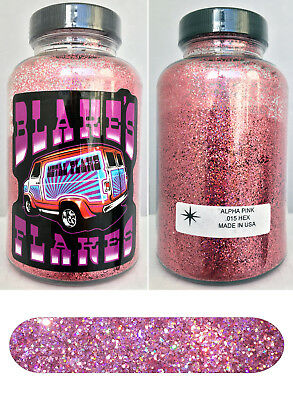Blakes Metal Flake .015 Alpha Pink Prismatic Hot Rod custom automotive 5oz jar