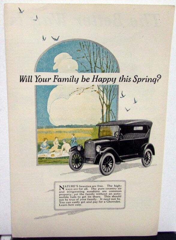 1924 Chevrolet Superior & Utility Models Color Sales Folder Original