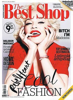 THE BEST SHOP #68 2015 CROATIAN FASHION SHOPPING MAGAZINE cover MADONNA