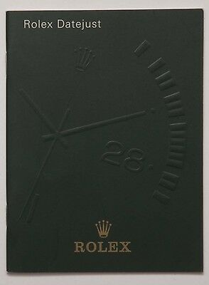 Genuine Rolex Datejust Vintage 2001 English Manual Booklet Papers Book Guide