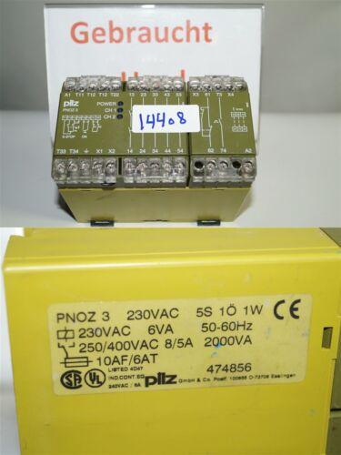 Pilz Pnoz 3 Sicherheitsschaltgeraet 474856