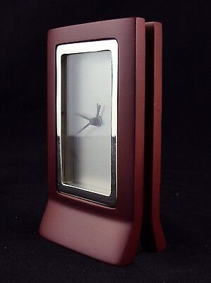 Desk Clock Analog Wood Frame Modular Vertical Signboard Style Cl-431