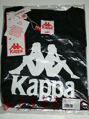 NWT Kappa Street wear Authentic Estessi Black Men's Italy T-Shirt Size Large