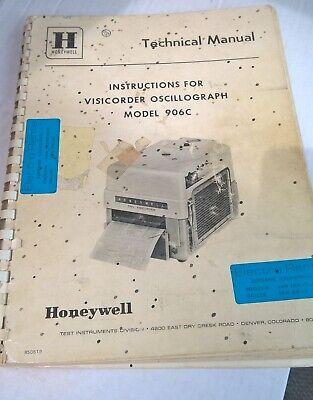 Honeywell Visicorder Oscillograph 906c Technical Manual