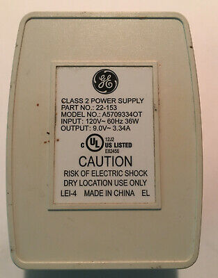 Ge Alarm System Transformer Power Supply A5709334ot 16.5vac