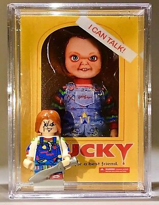 HORROR Chucky Childsplay Halloween Custom Mini Action Figure w Case & Stand 450 - Customes Halloween