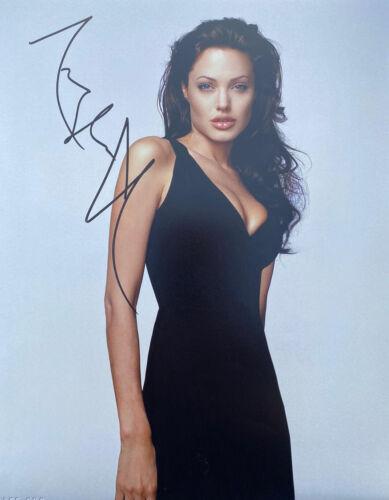 STUNNING Angelina Jolie Signed 11x14  Photo TOMB RAIDER AFTAL UACC ACOA SA57515
