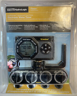 Melnor 53280 Hydrologic 4-Outlet Digital Water Timer 4 Zone