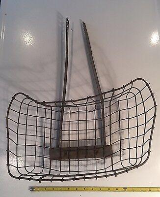 "Vintage Androck Wire Bicycle Front Basket 16""x8"" ~ Schwinn Elgin Hawthorne Bike"