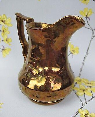 "Vintage Wade pottery Copper Lustre effect JUG PITCHER. Stag Deer. 5.5"" Tall"