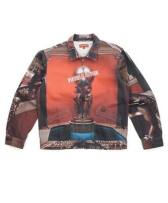 FW17 Supreme Scarface World Is Yours Denim Jacket Multi Size XL 100% Authentic