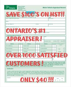 ONLY $40 CERTIFIED AUTO AND VEHICLE APPRAISALS