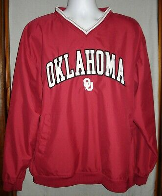 Oklahoma Sooners Pullover Jacket Pro Player Men's Size -