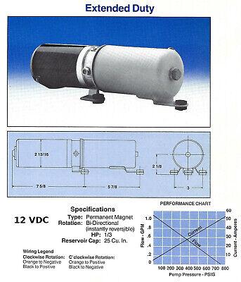 12v Dc 700 Psi Hydraulic Pump