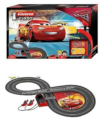 (Cars 3 Lightning McQueen RC IR Carrera Remote Control Slot Car Race Track Ages 3)