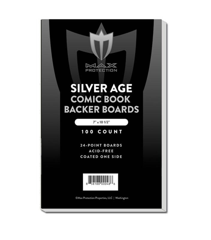 100 Max Pro Silver Age /Era Comic Book Acid Free Backing Boards white backers