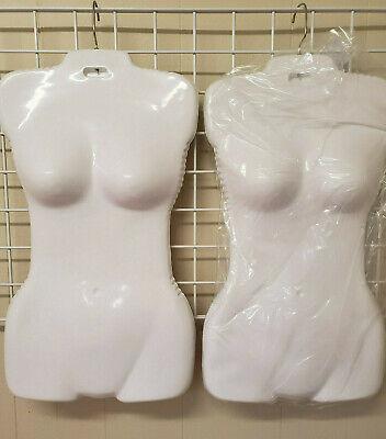 Economy Female White And Black Plastic Torso Form - Fits Womens Sizes 5-10