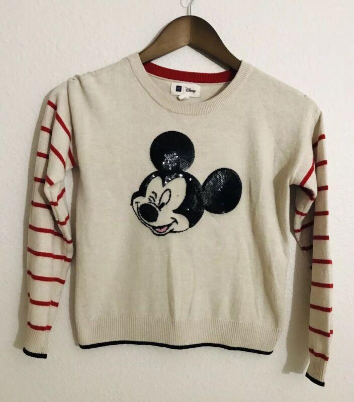 GAP Kids Disney Size Large Girls Knit Sweater Crew Neck Long Sleeve
