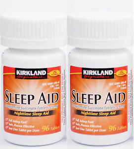 Kirkland-Sleep-Aid-Doxylamine-succinate-25-mg-192-Tablets-Brand-New-Sealed