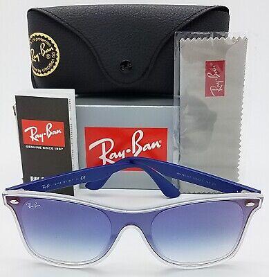 NEW Rayban Sunglasses Blaze Wayfarer RB4440NF 6356XO 44 Transparent Blue (Sunglasses Blaze)