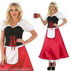 damen l ngere l nge bier m dchen oktoberfest kost m kleid. Black Bedroom Furniture Sets. Home Design Ideas