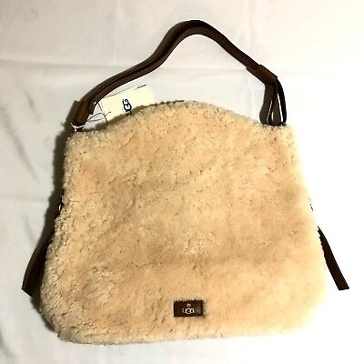 Ugg Quinn Hobo Sheepskin Women's Handbag Purse Natural  Sheepskin Womens Handbag