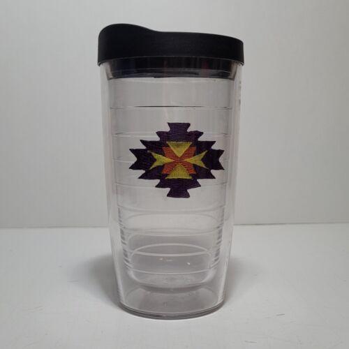 (1) TERVIS TUMBLER 16oz Clear Cup w/ Black Lid / Aztec  Adorable!