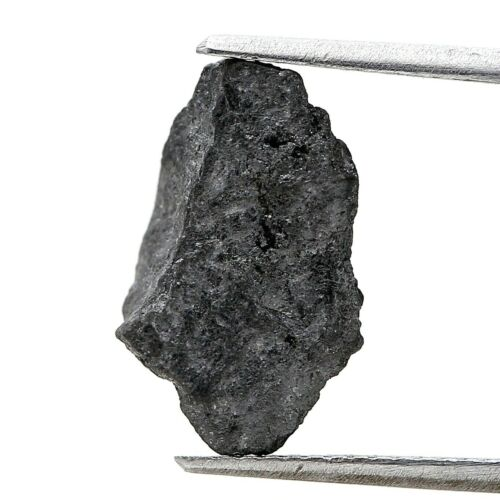 Big Rough Diamond 3.68TCW Gray Black Sparkling Natural Irregular Shape for Jewel