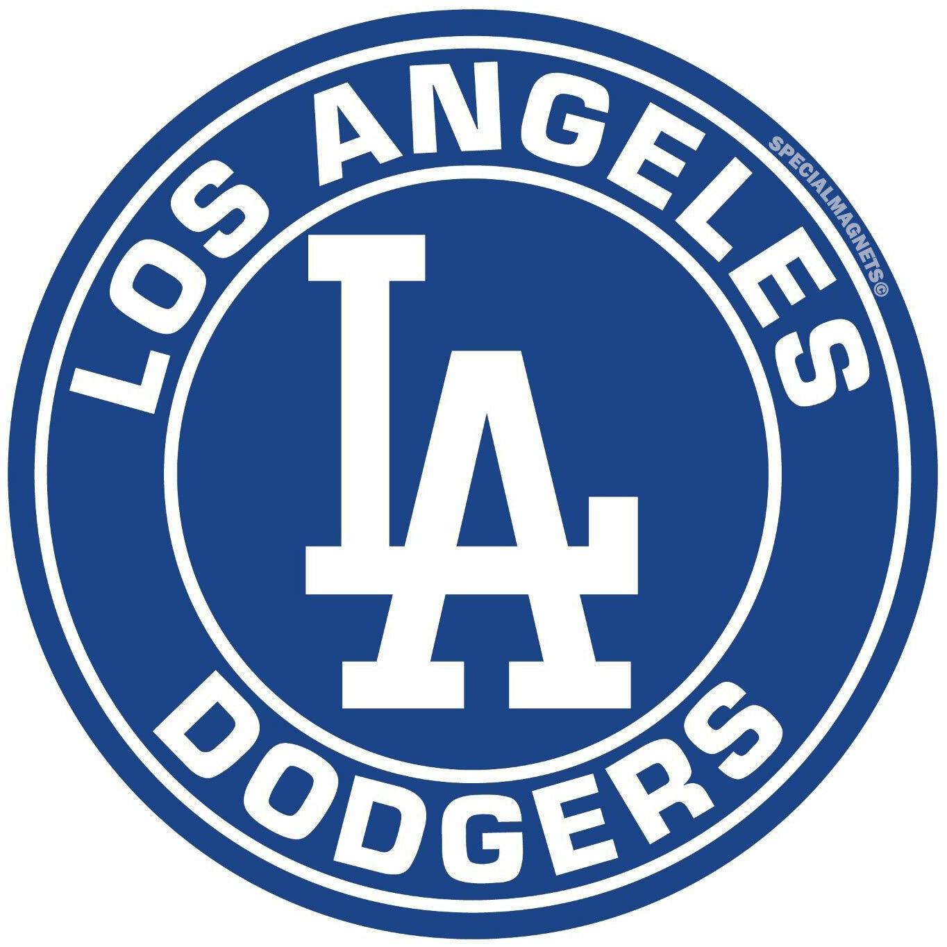 los angeles dodgers magnet circle logo sport