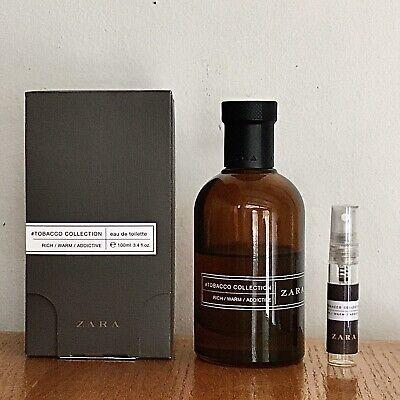 Zara Tobacco Collection Rich Warm Addictive - 5ml SAMPLE in Clear Glass Atomizer