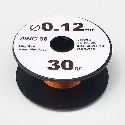 0.12 Mm 36 Awg Gauge 30 Gr 290 M 1 Oz Enameled Copper Magnet Wire Coil