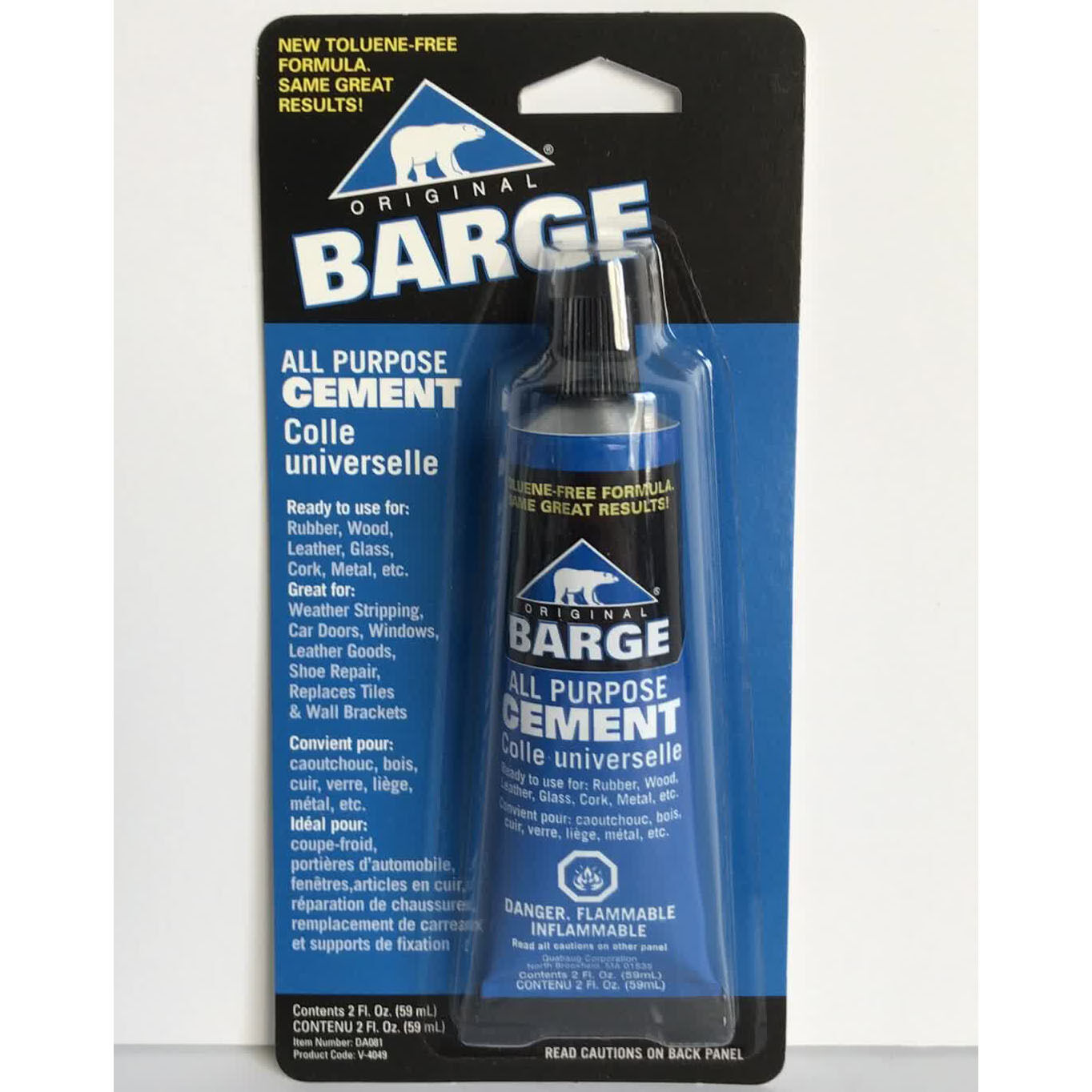Barge All Purpose Cement Leather Rubber Wood Glass Glue 2 oz Adhesives & Tape