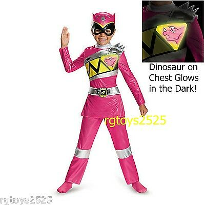 Power Rangers Dino Charge Deluxe 3-4T Pink Ranger Costume New Toddler Girl child](Pink Power Ranger Costume Toddler)