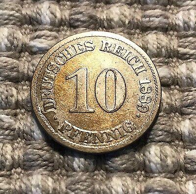 10 Pfennig von 1889 E / Deutsches Reich