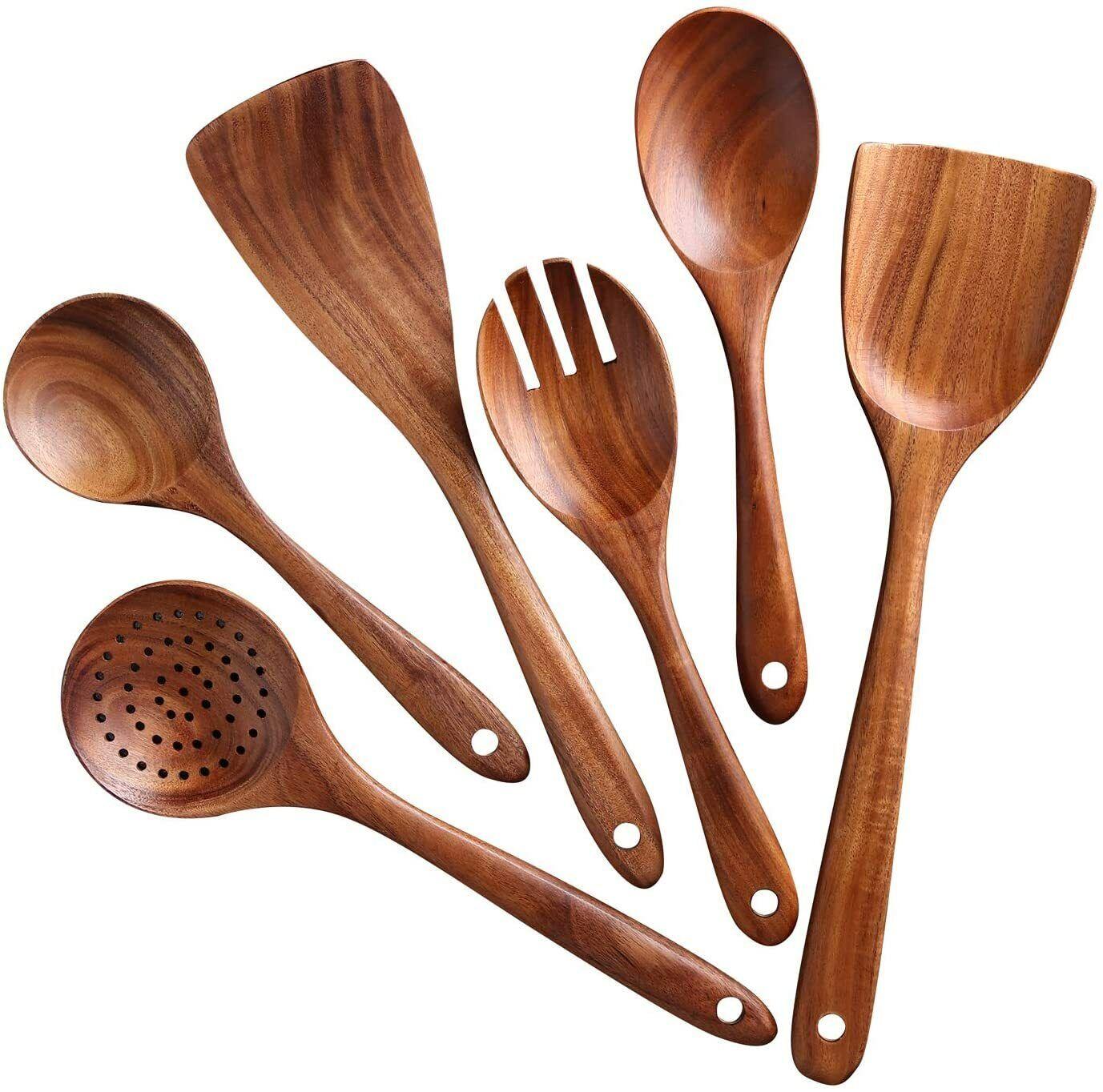 Wooden Cooking Utensil Set Non-stick Pan Kitchen Tool Wooden Salad Cooking Set