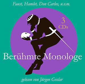 CD-Celebre-Monologhi-di-Jurgen-Goslar-con-Faust-Don-Carlos-altri-3CDs