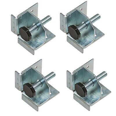 4 x Plinth Adjuster Heavy Duty Adjustable feet with Supporting Bracket Cabinet